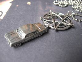 Dean Winchester Necklace by SpellsNSpooks