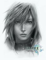 FFXIII: Re-Sketch of Lightning by lyzeravern