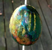 Hand Painted Egg Ornament 3 by MandarinMoon