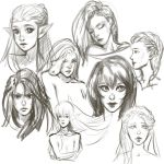 fast sketches by TanyaGreece