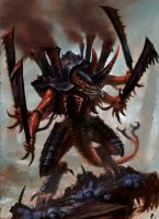 Tyranid Swarmlord Artwork by Zergwing