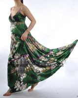 Jade Green Satin Maxi Dress 3 by yystudio