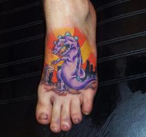 reptar tattoo by kevin goedon by kmgsucks