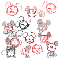 Mickey Doodles by Llewlitz