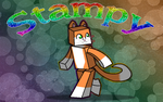 StampyLongHead background by GwenCupcakes
