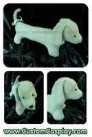 Dachshund plushie in mint wool by The-Cute-Storm