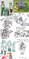 Advance Wars Sketches by Eoko