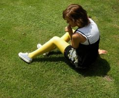 A girl in yellow tights II by reniferowa