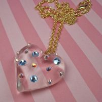 Iced Heart Necklace by FatallyFeminine