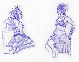 Burlesque Life Drawings by Gizmoatwork