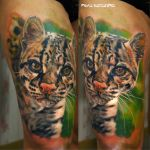 ocelot tattoo by NikaSamarina
