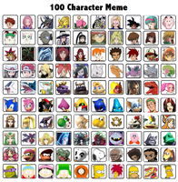 My Top 100 Characters Over All Meme by whosaskin