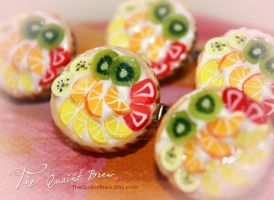 Fruit Tart Brooch by kalos-eidos-skopein