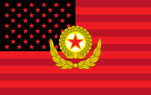 Korean People's Army symbol on the us flag by ShitAllOverHumanity