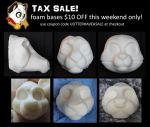 $10 OFF Foam bases this weekend only by stuffedpanda-cosplay