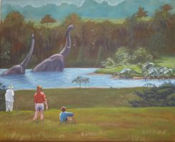 Welcome to Jurassic Park by spohniscool