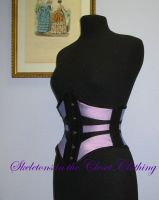 Ribbon corset liliac and black by BlackvelvetSITC