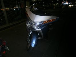 motorcycle at night 6 by LuchareStock