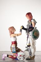 Serah and Lighting by Eyes-0n-Me