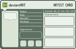 Artist Card Template by Snashyle