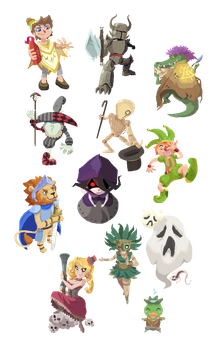 STR Characters by Toen