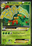 Mega Sceptile EX Card by Shadarkness