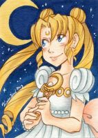 Sketch Cards - Princess Serenity by Karmada