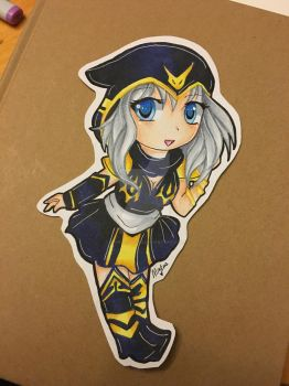 Ashe- League Of Legends by MinkusDaMinx
