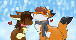 Snowfal Kiss by Izzyhime