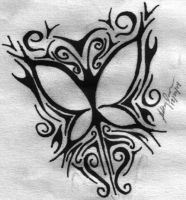 tribal butterfly by anotherxwastedlife