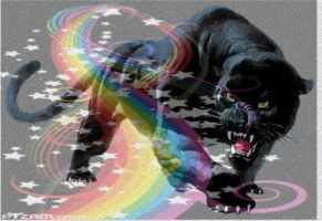 Rainbow Panther by DynamicDeliveries