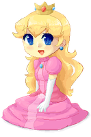 Pixel Peach by Gumwad201