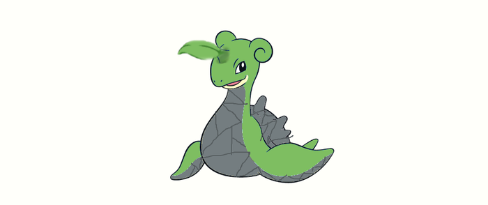 Grass and rock type lapras. by MoonMan246