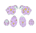 Star Puff Plush Concept Art by SparkleWolf404