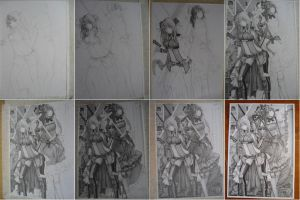 My Drawing Step (Update for big size image) by BombayPiko