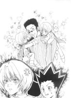 Leorio happy, Kurapika mad by Blacksspirit