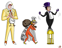Rogues: Egghead, Calendar Man, Penguin by L-word