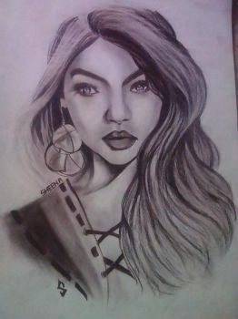Gigi Hadid fan art Attempt by Sheenderela