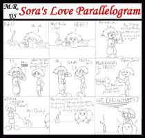 """Sora's Love Parallelogram"" by purplelemon"