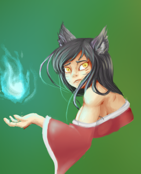 WIP- Ahri by Cartesia-Dawn
