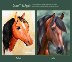 Andalusian horse. 3 years later by Stasushka