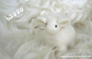 Needle Felted Sheep by xXScarletButterflyXx