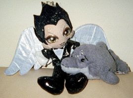 Angel Klaus Nomi and Ecco dolphin by DreamRevolution