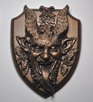 Krampus Wall Plaque by DellamorteCo