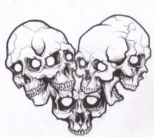 Skull Love Tattoo verson by Demon1984