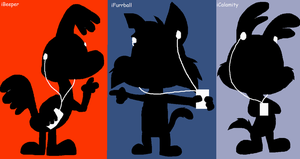 Little Beeper, Furrball and Calamity iPod by JustinandDennnis