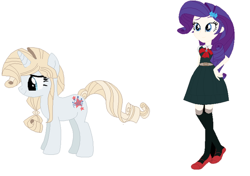 Crossover AU Sonia and Rarity by EverythingReviewer