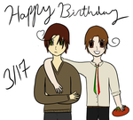 Happy Birthday Italy and Romano! by Frodoschmodo