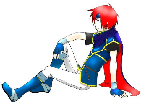 Lineart colored: FE Roy by animelover101411