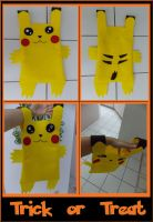 Trick or Treat Pikachu Bag by pikabellechu